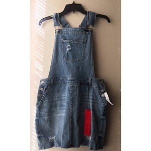 NWT Celebrity Pink Overall Denim Jean's Skirt